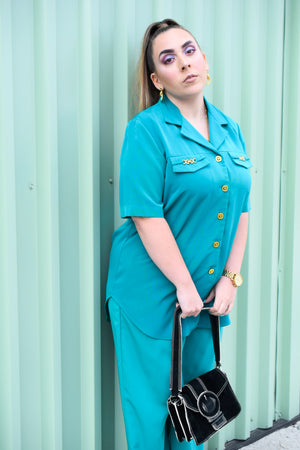 Jandabar (JDB) Teal Matching Set-Upcycled Apparel-The Mix HamOnt