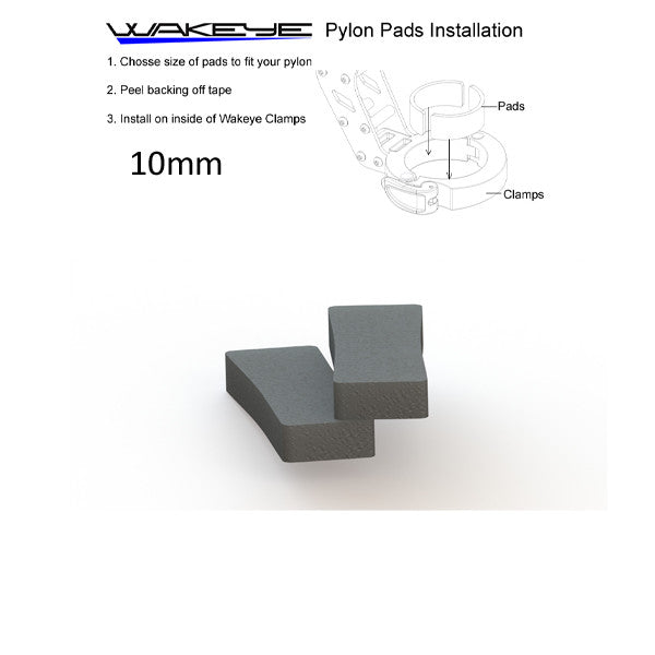 10mm Pylon Rubber Pads