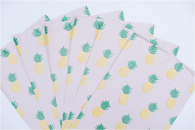 Pink Pineapple Shipping Bags
