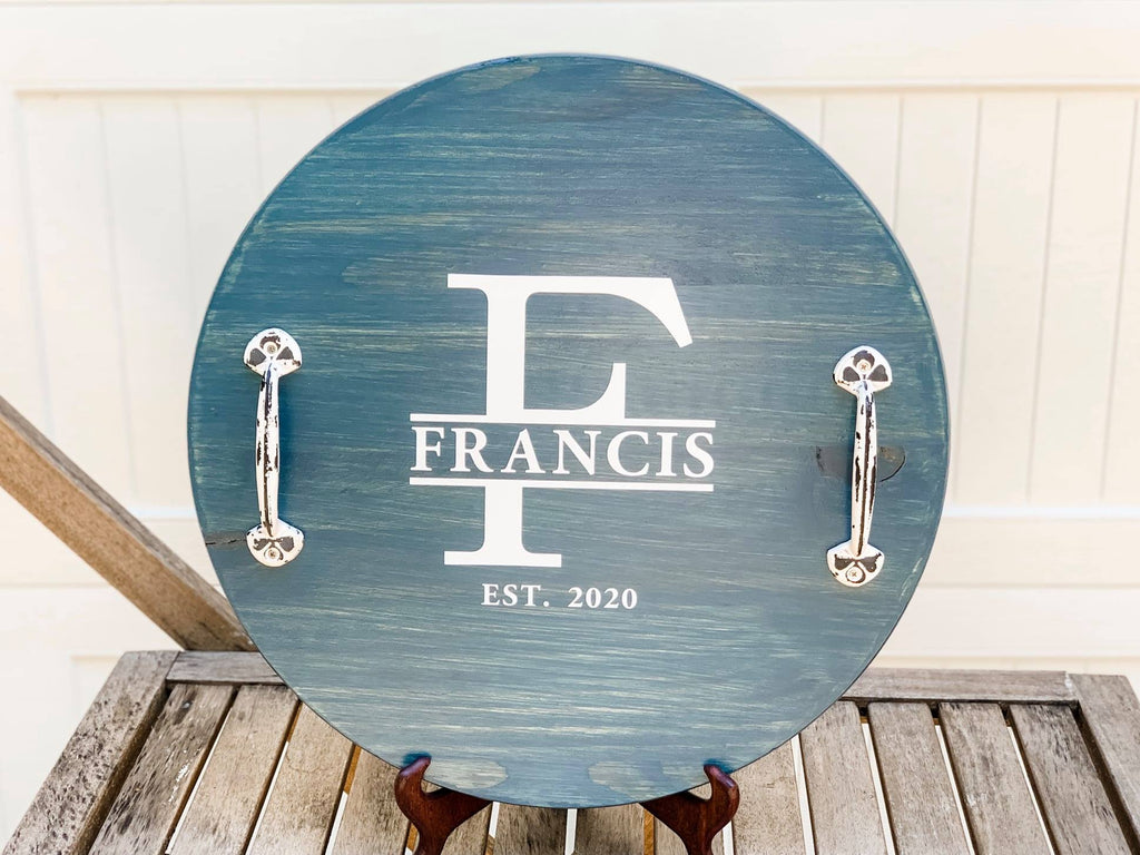 "Personalized Wood Tray (18"")"