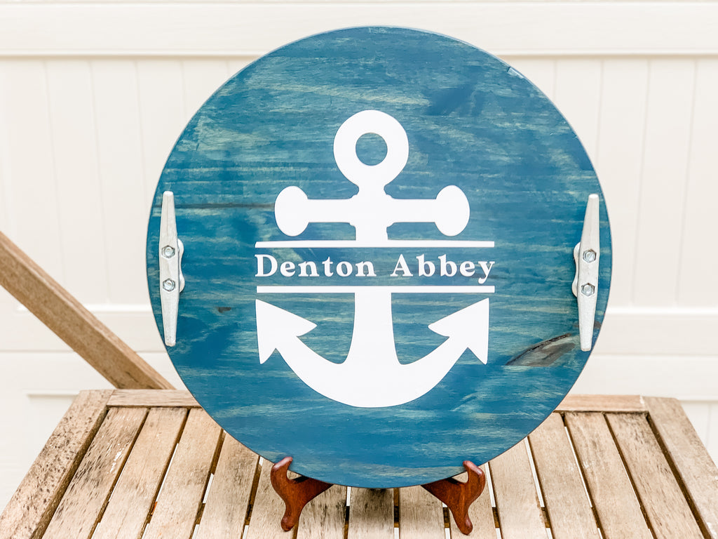 "Anchor Wood Tray (18"")"