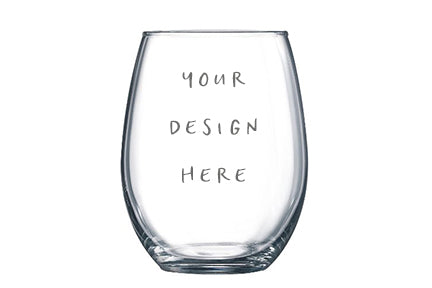 Custom Vinyl Wine Glass