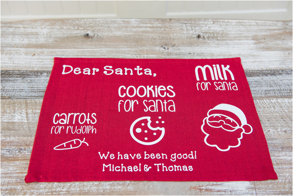 Personalized Santa Placemats