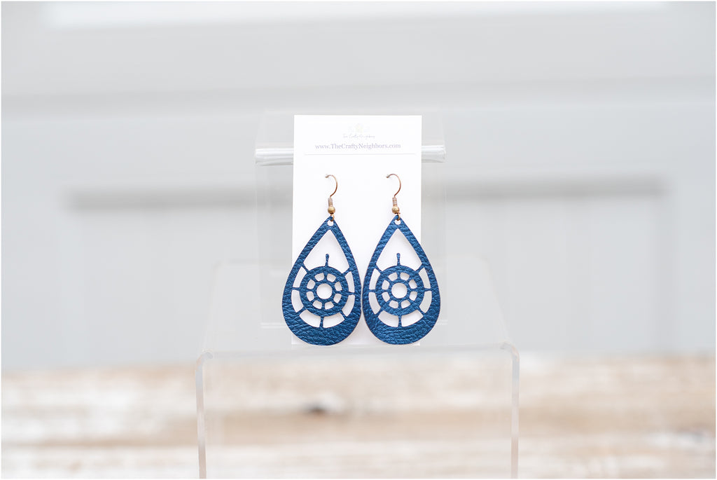 Shipwheel Earrings