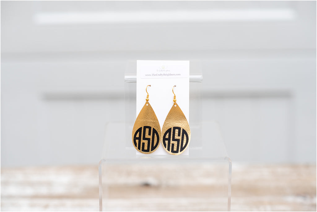Monogram Petal Earrings