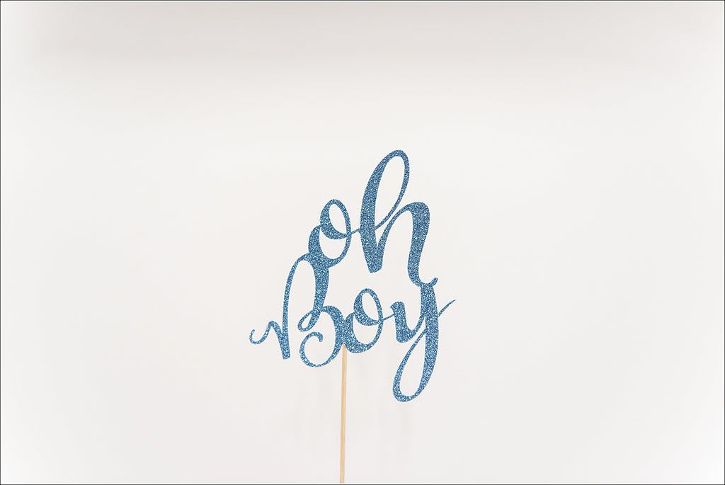 """Oh Boy"" Cake Topper"