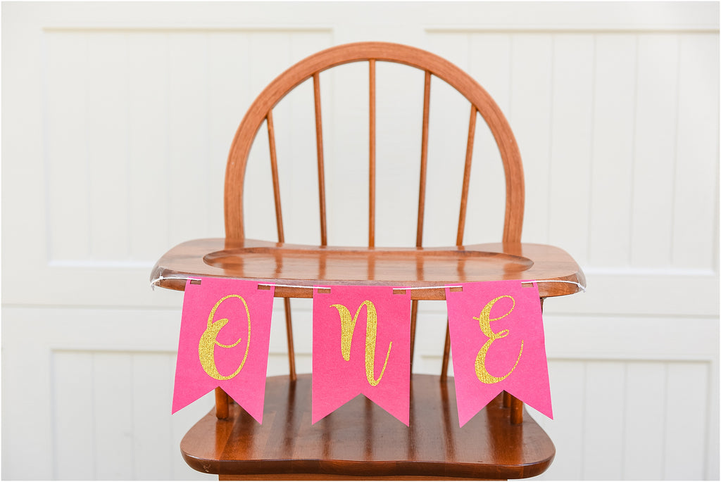 """One"" High Chair Banner"