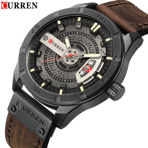 Luxury CURREN men Casual Leather Watch