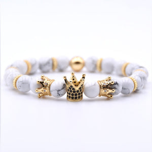Gold Crown Bracelet Beads Bracelets