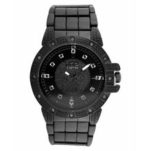 Load image into Gallery viewer, Black Mid Circle Black Color Classic Bling Metal Watch