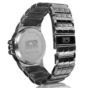 Black Mid Circle Black Color Classic Bling Metal Watch