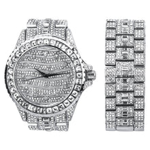 Load image into Gallery viewer, Silver Ultra Bling Master Watch/Bracelet Set
