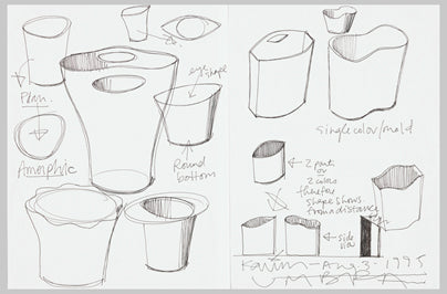 Umbra trash can sketches