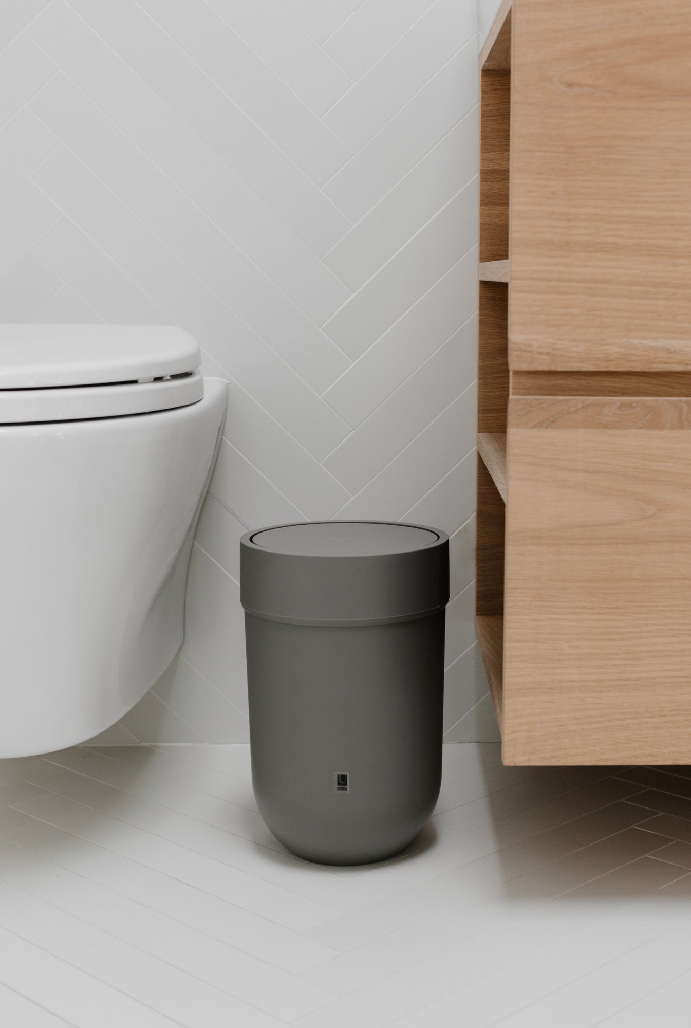 Touch Trash Can Shop Small Bathroom Office Trash Cans Umbra