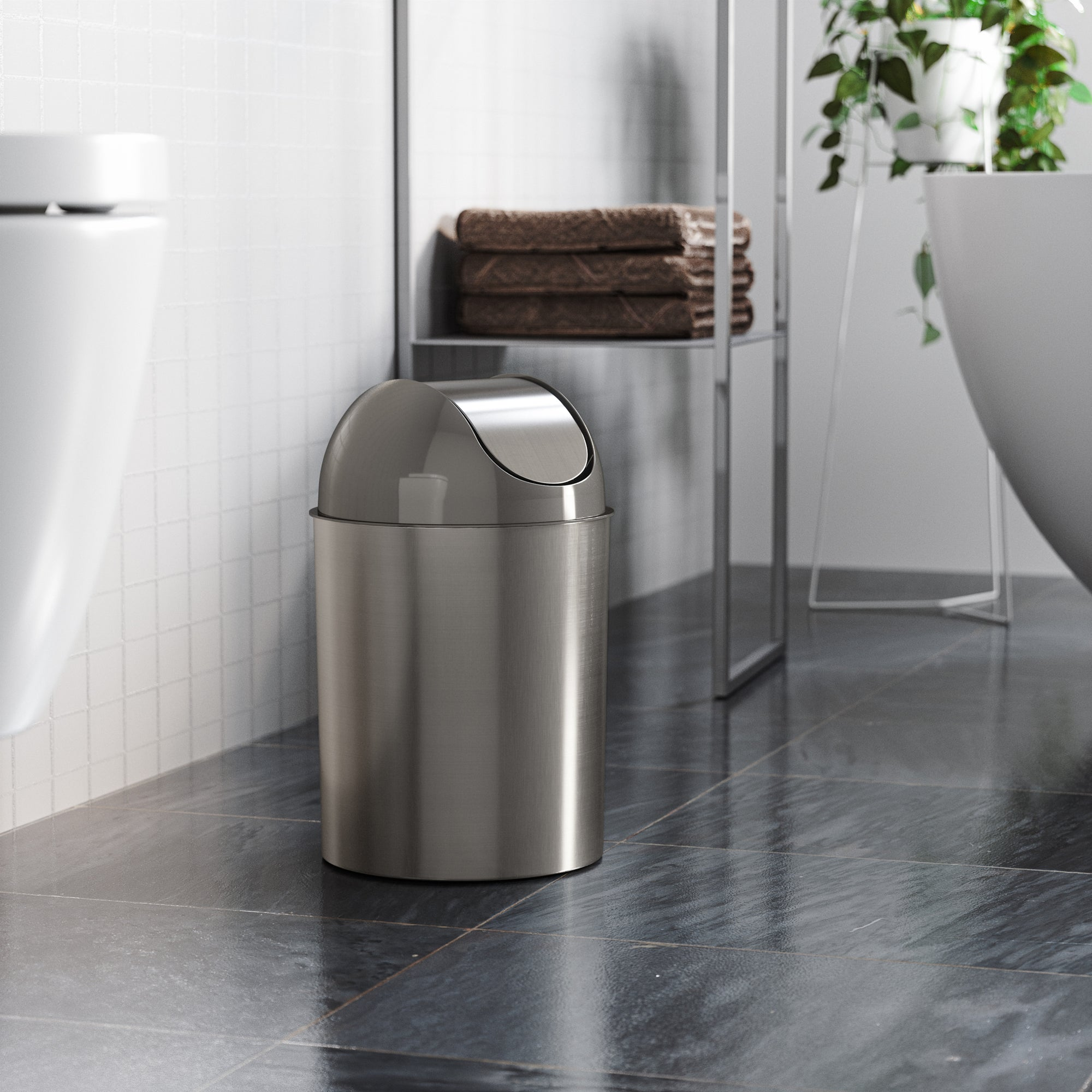 Mezzo Trash Can Shop Small Bathroom Office Trash Cans Umbra