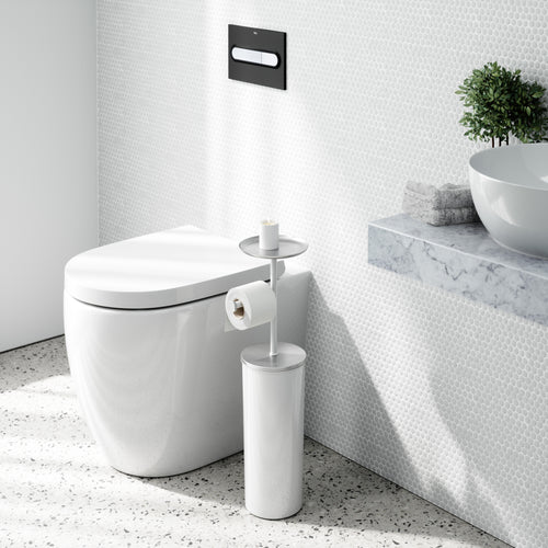 Toilet Paper Stands | color: White-Nickel | Hover