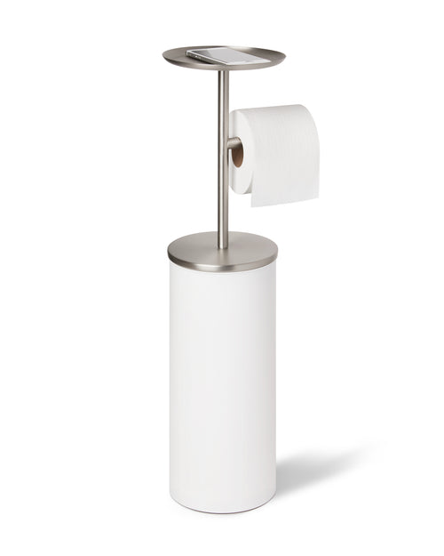 Toilet Paper Stands | color: White-Nickel