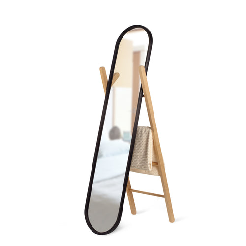 Floor Mirrors | color: Black-Natural | size: 62x16In