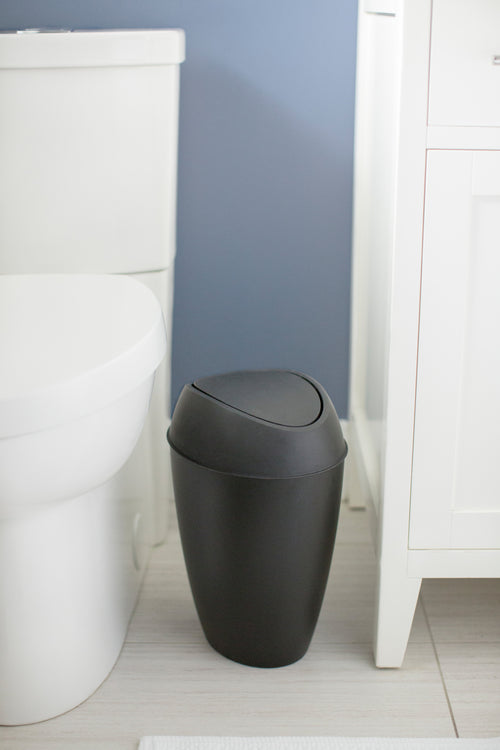 Bathroom Trash Cans | color: Black | Hover
