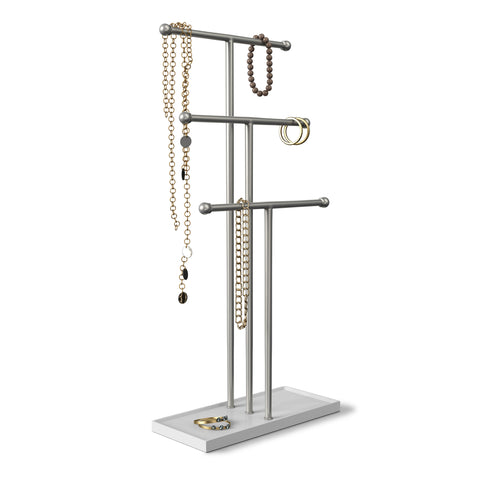 Jewelry Stands | color: White-Nickel