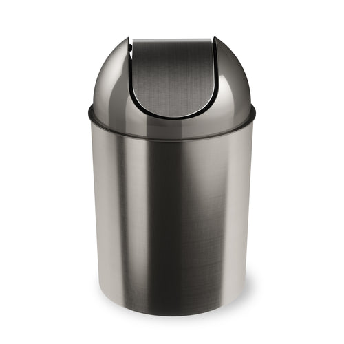 Bathroom Trash Cans | color: Nickel-Silver