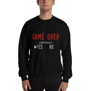 "Sweatshirt mit Druck, ""GAME OVER, CONTINUE?"""