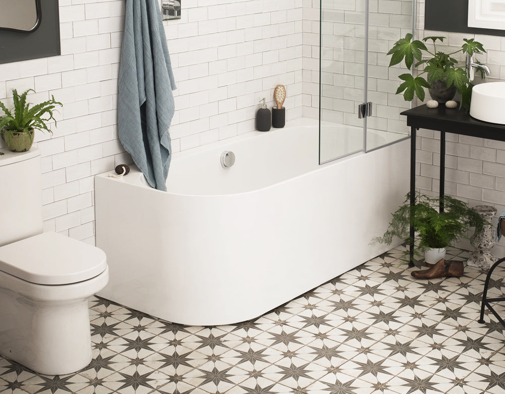 1660 - Flow Hybrid Shower Bath
