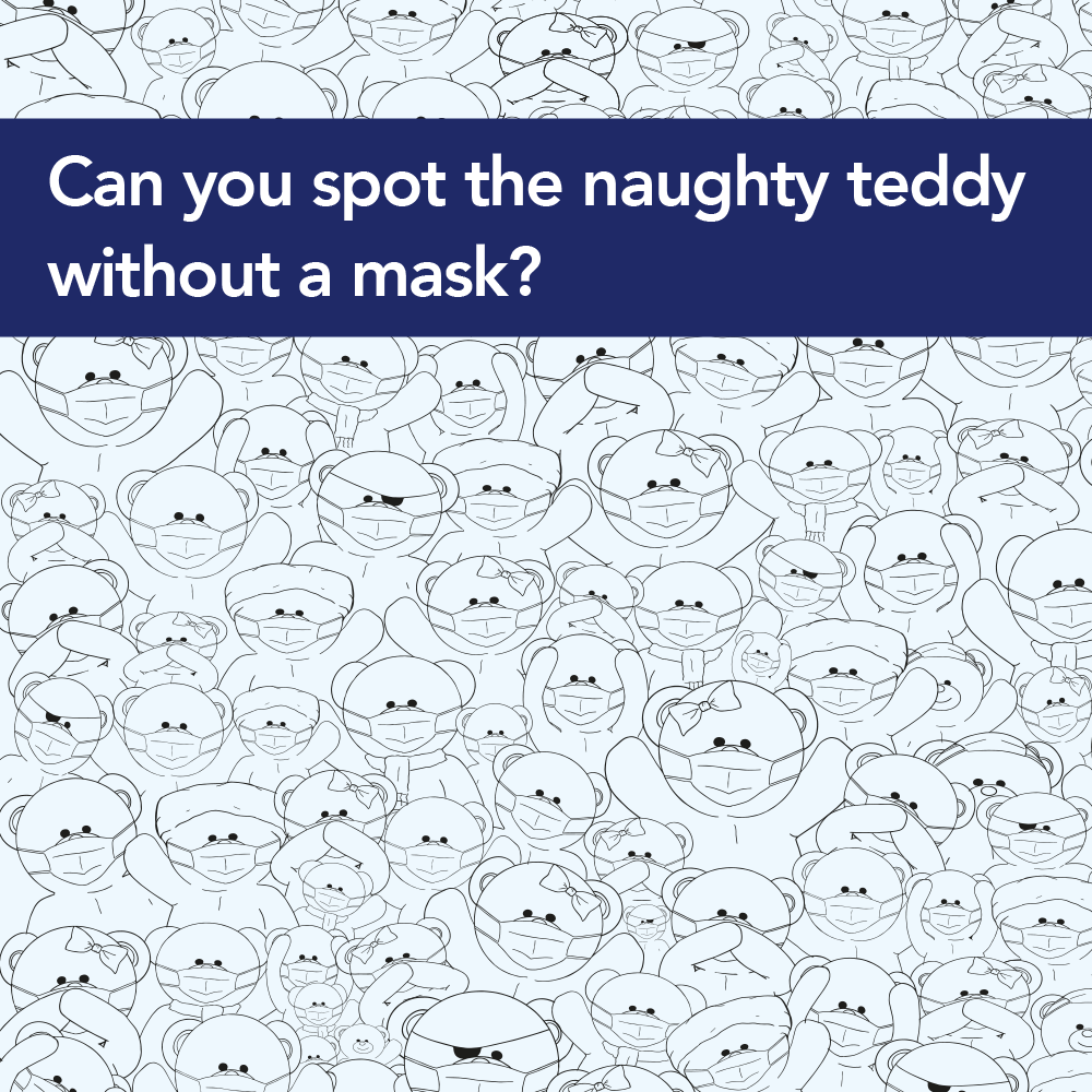 Find Arnie's naughty teddy without a