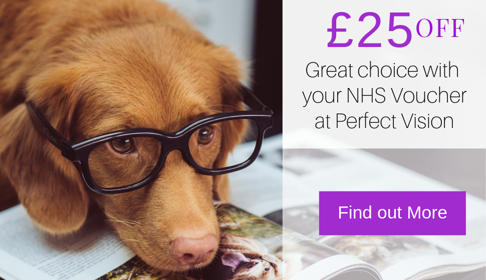 great choice of frames with your NHS Voucher at Perfect Vision