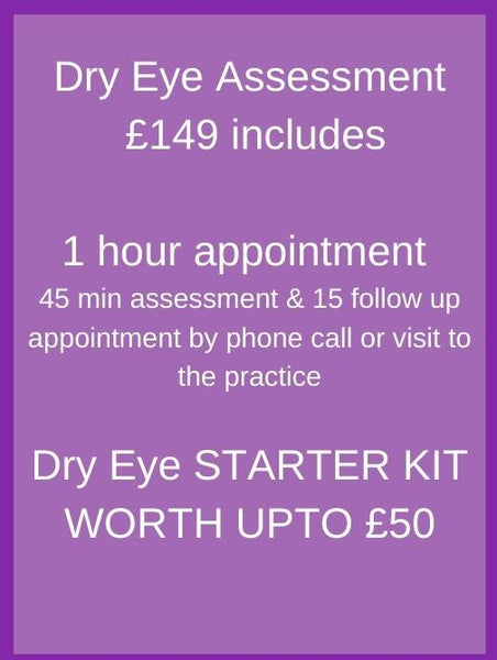 Dry Eye Appointment 1st assessment