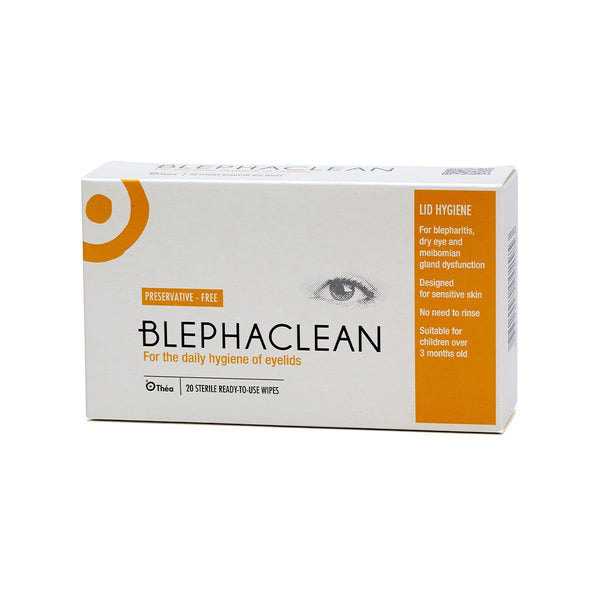 Blephaclean Eyelid cleansing wipes 20 wipes