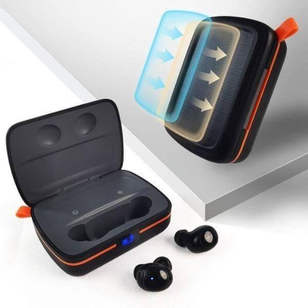 Wireless Solar Earbuds Charging Case | Bet Solar Power -