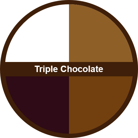 Triple Chocolate (1 dozen) - Big Cookie