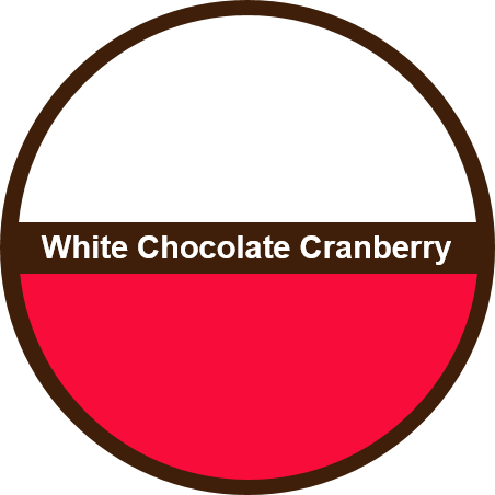 White Chocolate Cranberry (1 dozen) - Big Cookie