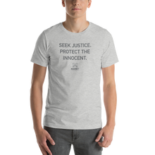 Load image into Gallery viewer, Seek Justice. Protect the Innocent. | Short-Sleeve Unisex T-Shirt