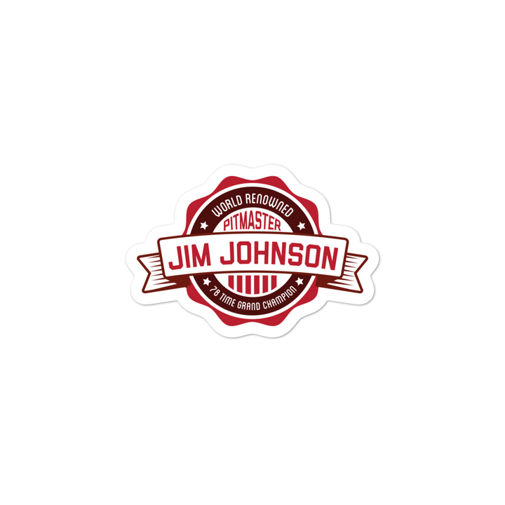 Jim Johnson Pitmaster Stickers