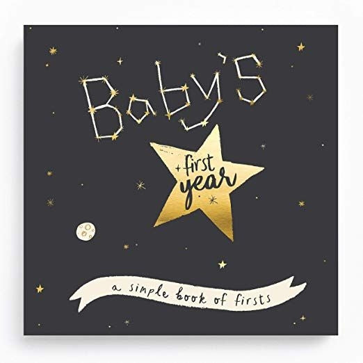 Golden Stargazer Baby Memory Book - TREEHOUSE kid and craft