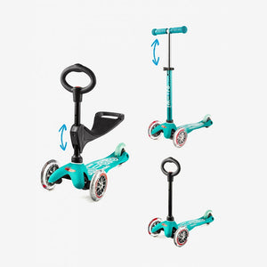Mini 3in1 Deluxe Scooters: Assorted Colors - TREEHOUSE kid and craft