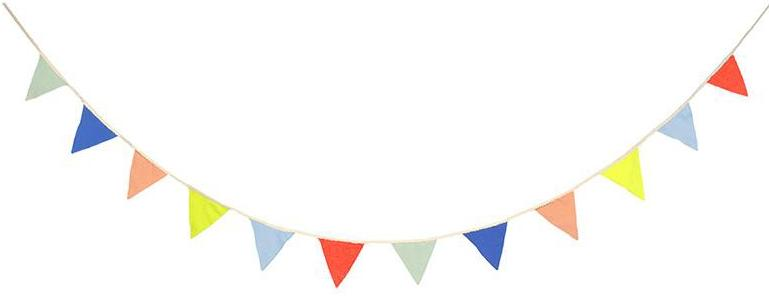 Multi-Colored Knitted Flag Garland - TREEHOUSE kid and craft