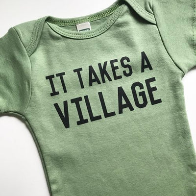 It Takes a Village Onesie - TREEHOUSE kid and craft