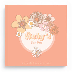 Flower Child Baby Memory Book - TREEHOUSE kid and craft