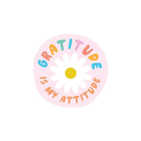 Gratitude is my Attitude Vinyl Pipstickers - TREEHOUSE kid and craft