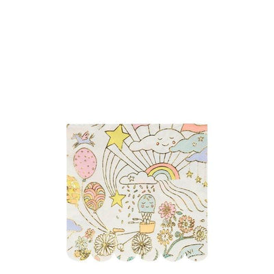 Happy Doodle Small Napkins - TREEHOUSE kid and craft