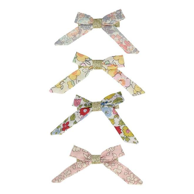 Floral Bow Hair Clips - TREEHOUSE kid and craft