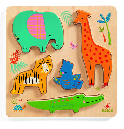 Wooden Puzzles Woodyjungle - TREEHOUSE kid and craft