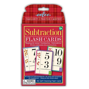 Subtraction Flash Cards - TREEHOUSE kid and craft