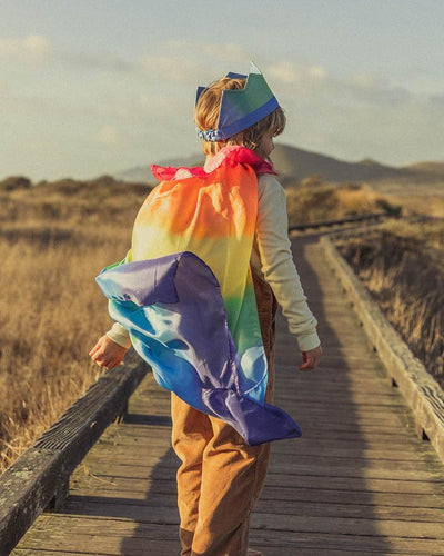 Rainbow Silk Cape - TREEHOUSE kid and craft