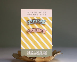 Mama and Darling Enamel Pin Set - TREEHOUSE kid and craft
