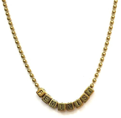 Little Lux Feminist Necklace 37uDA