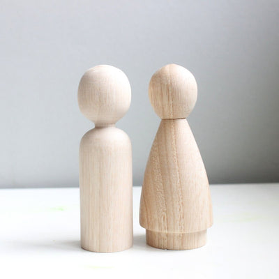 Wooden Peg Doll - TREEHOUSE kid and craft